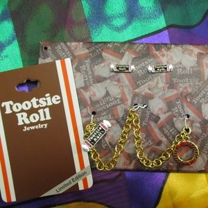 TOOTSIE ROLL Bracelet Earrings Set New Old Stock